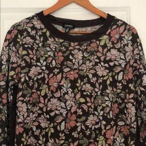 Jones, top blouse blown flowers printed S, soft